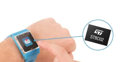 Battery charger chip reduces design and test time for wearables