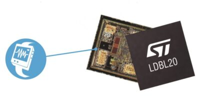 Low dropout regulator is in bumpless CSP for flexible design
