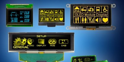 Mouser adds Vishay's OLED display modules