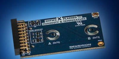 Mouser offers Sensirion's humidity and temperature extension board