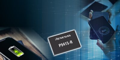 Wireless power receiver from Renesas has WattShare TRx mode